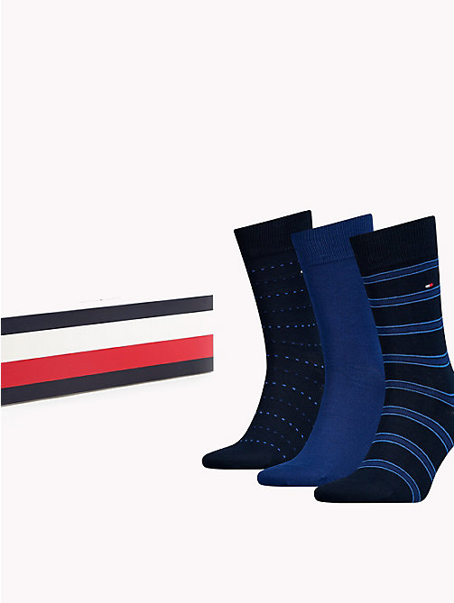 TOMMY HILFIGER 3-Pack Socks - DARK NAVY - TOMMY HILFIGER Stocking Stuffers - main image