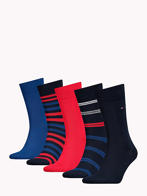 TOMMY HILFIGER 5-Pack Socks - TOMMY ORIGINAL - TOMMY HILFIGER Stocking Stuffers - detail image 1