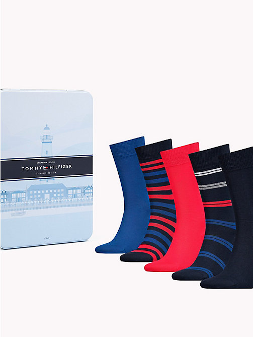 TOMMY HILFIGER 5-Pack Socks - TOMMY ORIGINAL - TOMMY HILFIGER Stocking Stuffers - main image