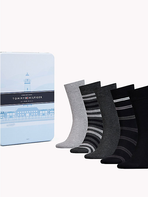 TOMMY HILFIGER 5-Pack Socks - BLACK - TOMMY HILFIGER Underwear & Swimwear - main image