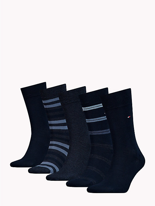 TOMMY HILFIGER 5-Pack Socks - DARK NAVY - TOMMY HILFIGER Underwear & Swimwear - detail image 1