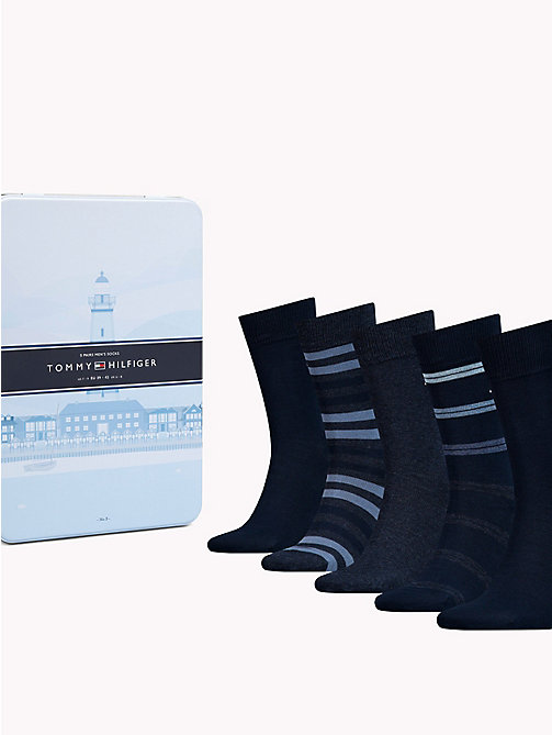 TOMMY HILFIGER 5-Pack Socks - DARK NAVY - TOMMY HILFIGER Underwear & Swimwear - main image