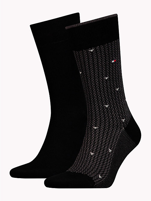 TOMMY HILFIGER 2-Pack All-Over Micro Print Socks - BLACK - TOMMY HILFIGER Socks - main image