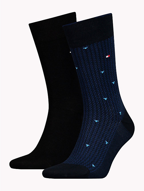 TOMMY HILFIGER 2-Pack All-Over Micro Print Socks - DARK NAVY - TOMMY HILFIGER Socks - main image