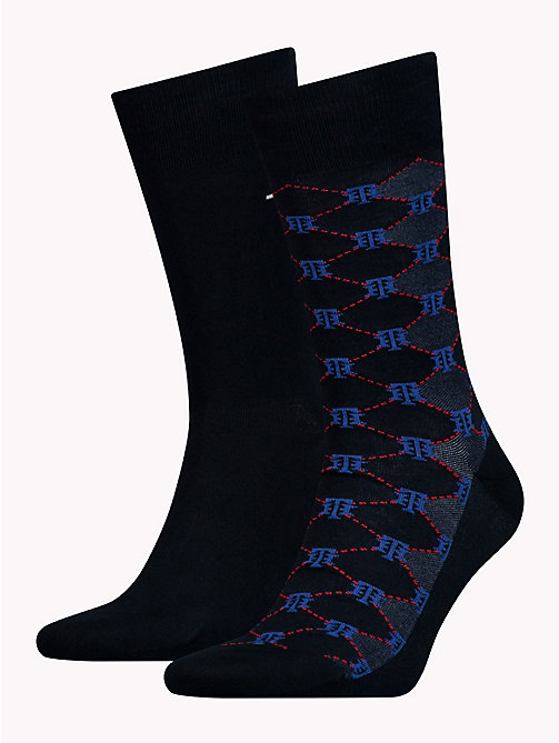 TOMMY HILFIGER 2-Pack Monogram Logo Socks - TOMMY ORIGINAL - TOMMY HILFIGER Socks - main image