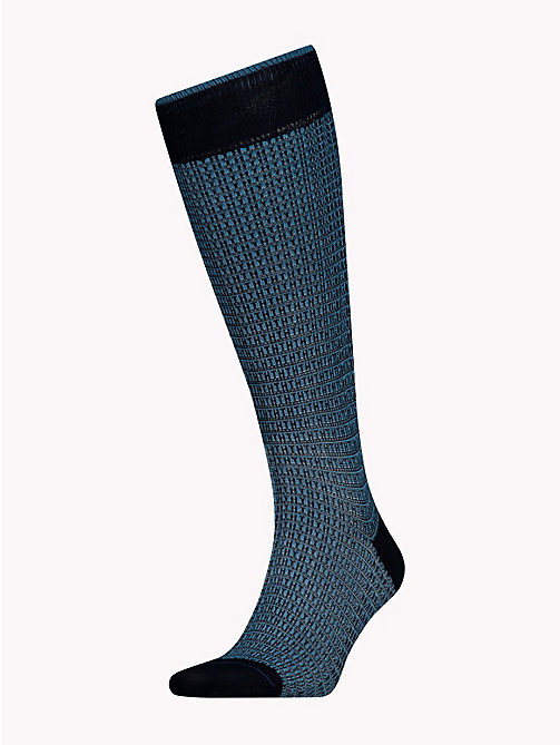 TOMMY HILFIGER Knee-High Micro Print Socks - DARK NAVY - TOMMY HILFIGER Socks - main image