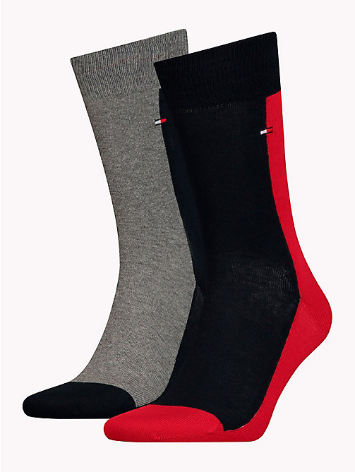 TOMMY HILFIGER 2-Pack Colour-Blocked Socks - TOMMY ORIGINAL - TOMMY HILFIGER Socks - main image