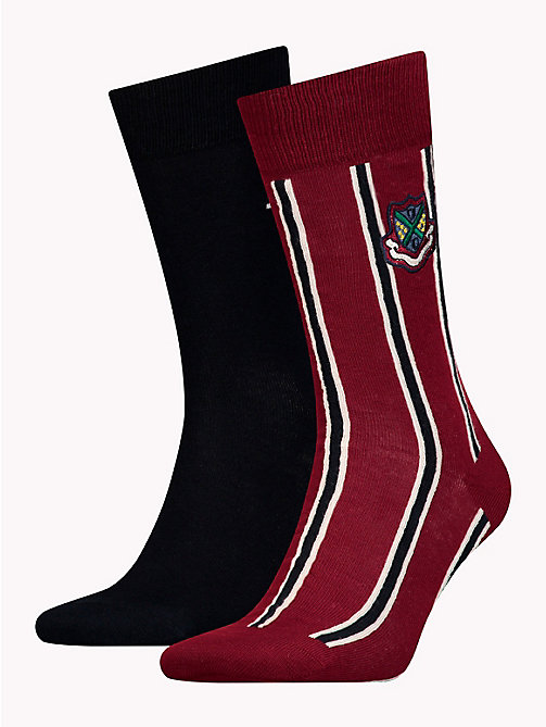 TOMMY HILFIGER 2-Pack Crest Socks - WINETASTING - TOMMY HILFIGER Stocking Stuffers - main image