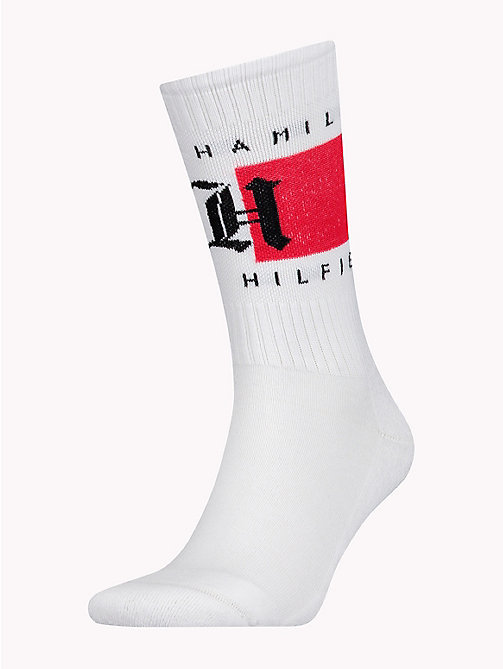 TOMMY HILFIGER Lewis Hamilton Flag Socks - WHITE - TOMMY HILFIGER TOMMY NOW MEN - main image