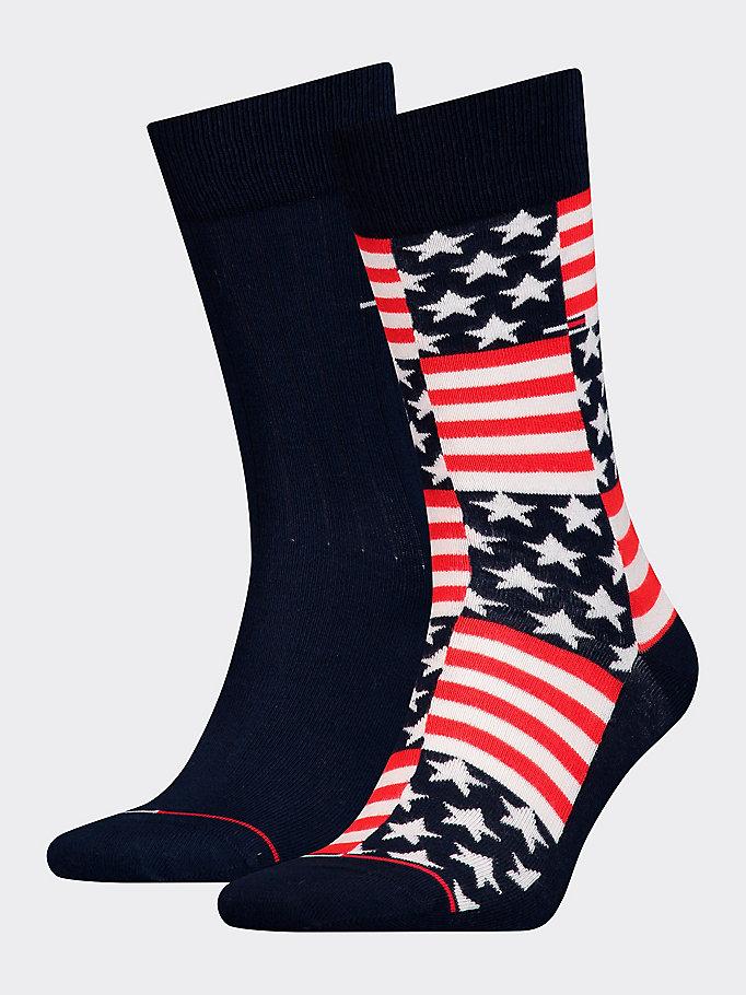 e574009606 2-Pack Flag Stripe Socks | NAVY | Tommy Hilfiger