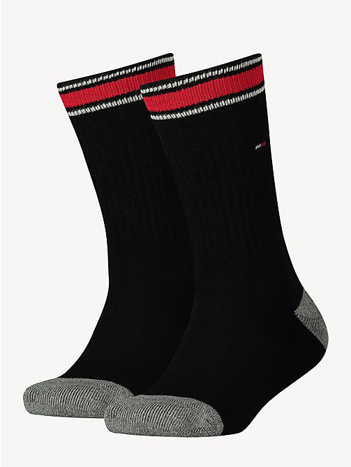 TOMMY HILFIGER 2 Pack Sports Socks - BLACK - TOMMY HILFIGER Underwear & Socks - main image