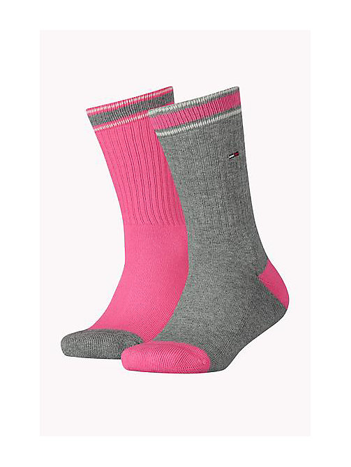 TOMMY HILFIGER 2 Pack Sports Socks - ROSE MELANGE - TOMMY HILFIGER Accessories - main image