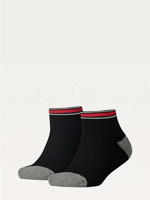 TOMMY HILFIGER 2-Pack Kids' Sports Quarter Socks - BLACK - TOMMY HILFIGER Underwear & Socks - main image
