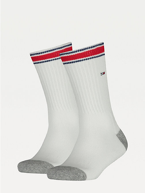 TOMMY HILFIGER 2 Pack Short Sports Socks - WHITE - TOMMY HILFIGER Shoes & Accessories - main image