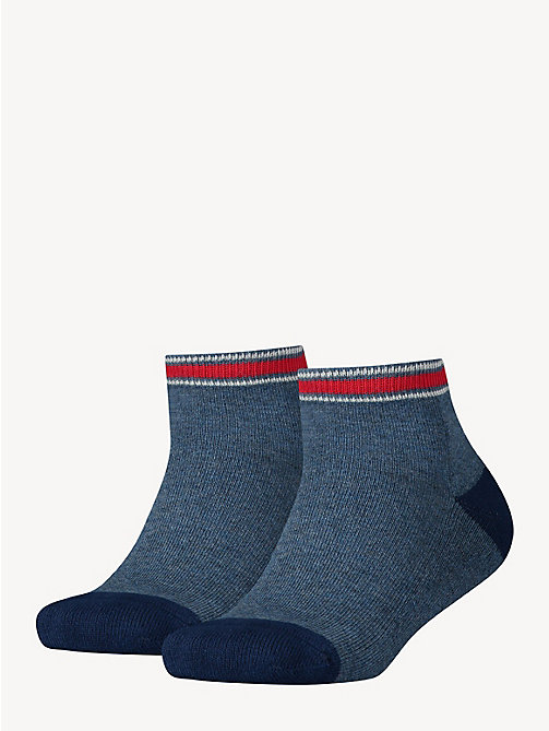 TOMMY HILFIGER 2-Pack Kids' Sports Quarter Socks - JEANS - TOMMY HILFIGER Underwear & Socks - main image