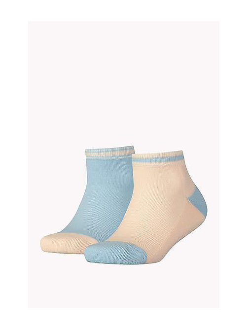 TOMMY HILFIGER 2 Pack Short Sports Socks - BABY BLUE - TOMMY HILFIGER Clothing - main image