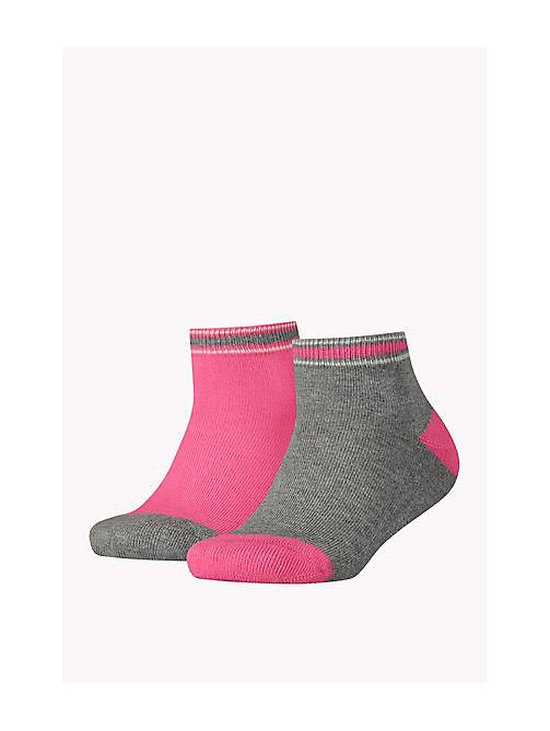 TOMMY HILFIGER 2 Pack Short Sports Socks - ROSE MELANGE - TOMMY HILFIGER Accessories - main image