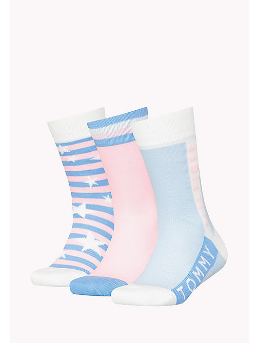 TOMMY HILFIGER 3-Pack Star Print Sock Gift Box - LILAC HINT - TOMMY HILFIGER Gifts for Kids - detail image 1