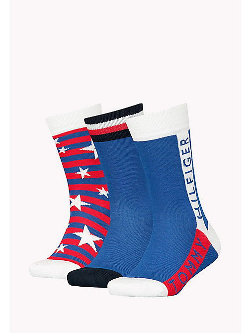 TOMMY HILFIGER 3-Pack Star Print Sock Gift Box - TOMMY ORIGINAL - TOMMY HILFIGER Gifts for Kids - detail image 1