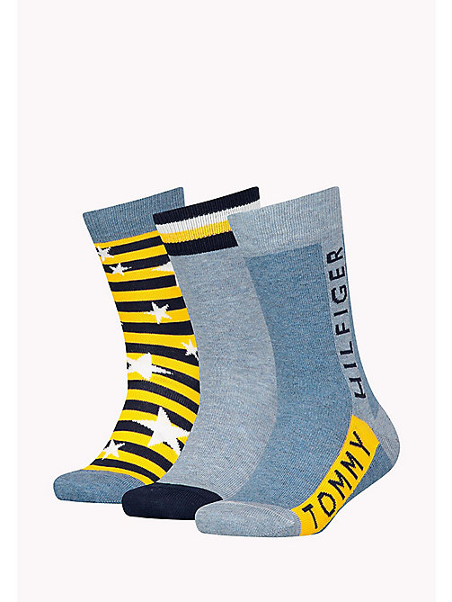 TOMMY HILFIGER 3-Pack Star Print Sock Gift Box - JEANS - TOMMY HILFIGER Gifts for Kids - detail image 1