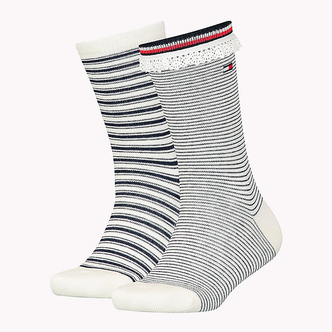 TOMMY HILFIGER 2-Pack Lace Stripe Socks - SPA BLUE - TOMMY HILFIGER Kids - main image