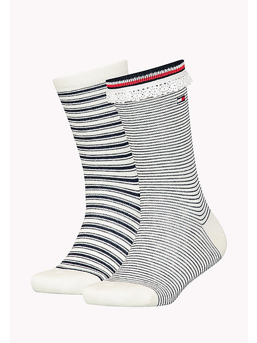TOMMY HILFIGER 2-Pack Lace Stripe Socks - MIDNIGHT BLUE - TOMMY HILFIGER Underwear & Sleepwear - main image