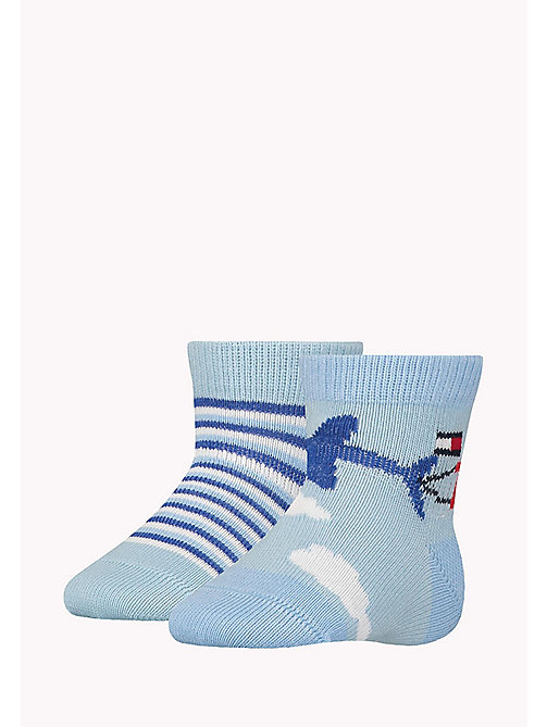 TOMMY HILFIGER 2-Pack Baby Skywriting Socks - BABY BLUE - TOMMY HILFIGER kleidung - main image