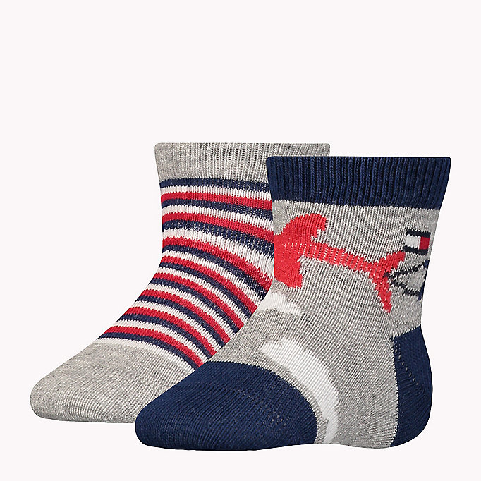 TOMMY HILFIGER 2-Pack Baby Skywriting Socks - BABY BLUE - TOMMY HILFIGER Kids - main image