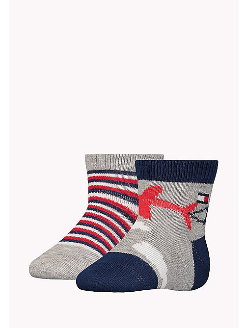 TOMMY HILFIGER 2-Pack Baby Skywriting Socks - MIDNIGHT BLUE - TOMMY HILFIGER Boys - main image