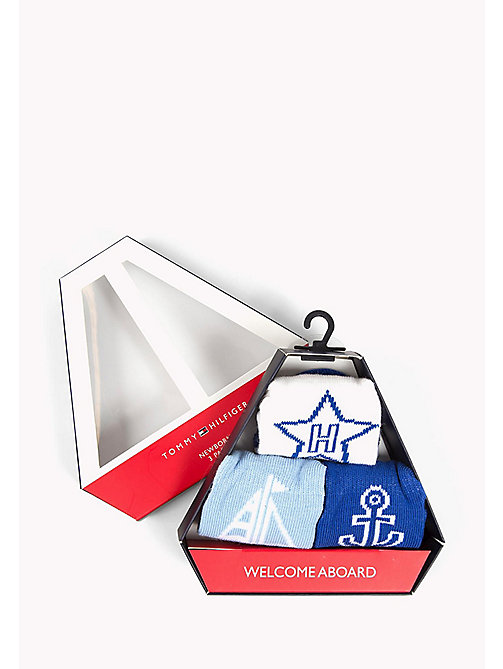 TOMMY HILFIGER 3-Pack Newborn Socks Gift Box - BABY BLUE - TOMMY HILFIGER Boys - detail image 1