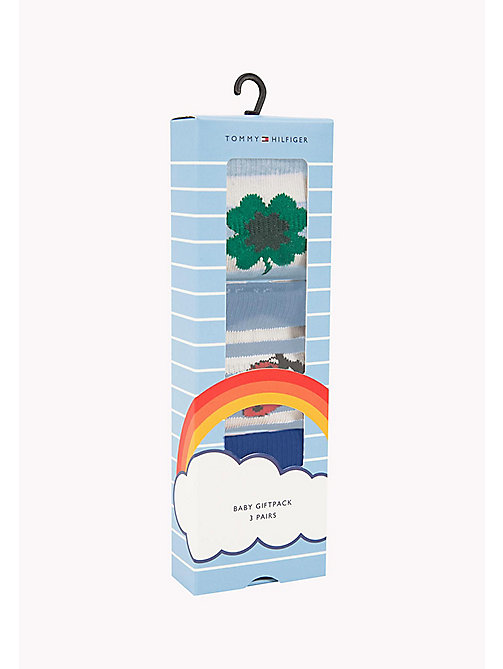 TOMMY HILFIGER 3-Pack Lucky Charms Sock Giftbox - BABY BLUE - TOMMY HILFIGER Gifts for Kids - detail image 1