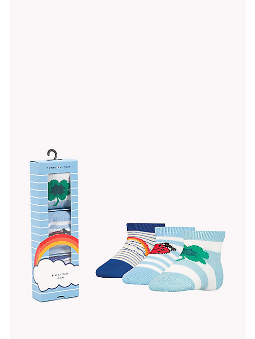 TOMMY HILFIGER TH BABY LUCKY CHARMS GIFTBOX 3P - BABY BLUE - TOMMY HILFIGER Одежда - главное изображение