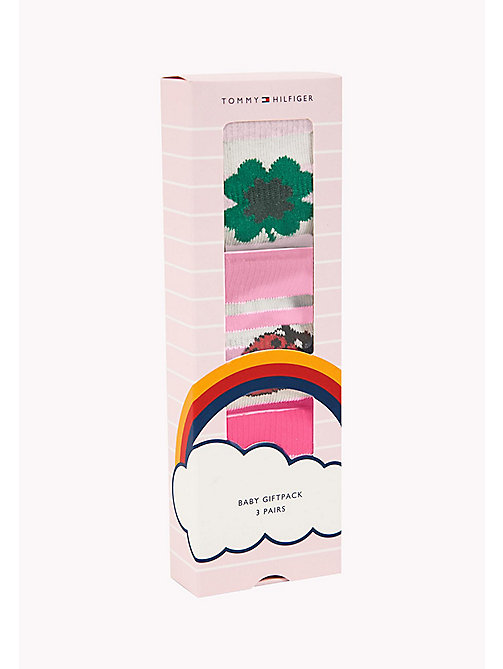 TOMMY HILFIGER 3-Pack Lucky Charms Sock Giftbox - PINK LADY - TOMMY HILFIGER Gifts for Kids - detail image 1