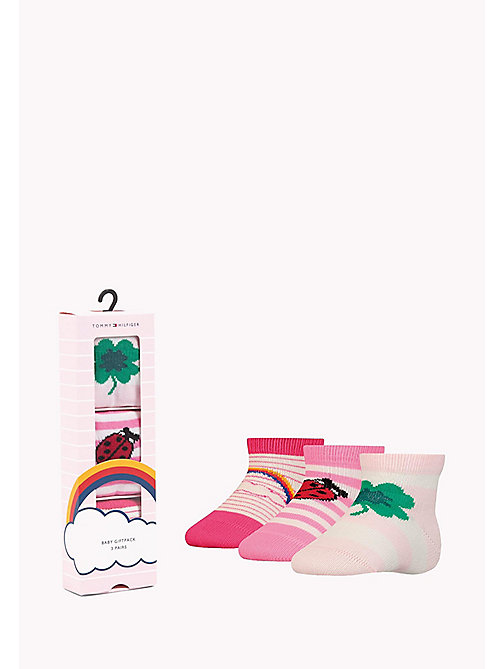 TOMMY HILFIGER 3-Pack Lucky Charms Sock Giftbox - PINK LADY - TOMMY HILFIGER Gifts for Kids - main image