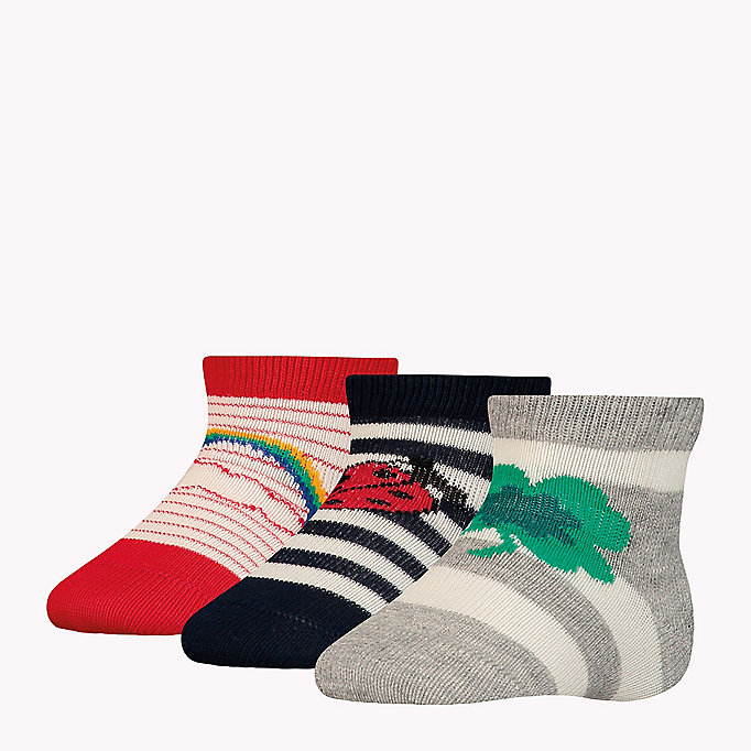 TOMMY HILFIGER 3-Pack Lucky Charms Sock Giftbox - BABY BLUE - TOMMY HILFIGER Kids - detail image 1