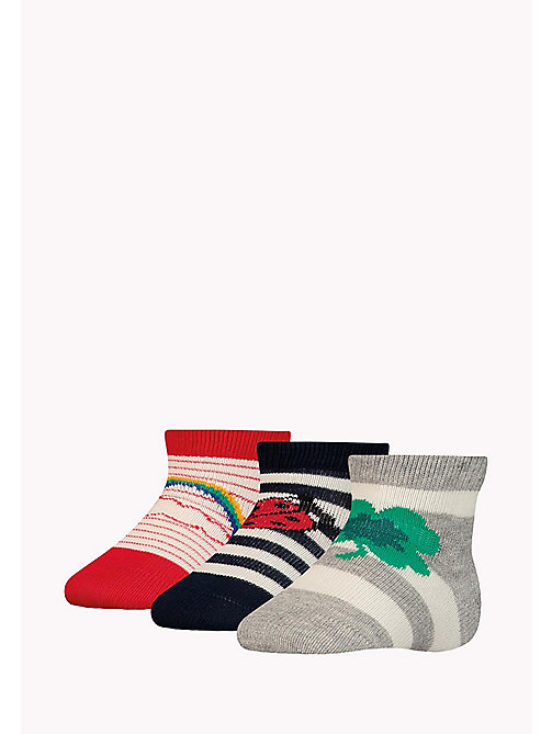 TOMMY HILFIGER 3-Pack Lucky Charms Sock Giftbox - MIDNIGHT BLUE - TOMMY HILFIGER kleidung - main image 1