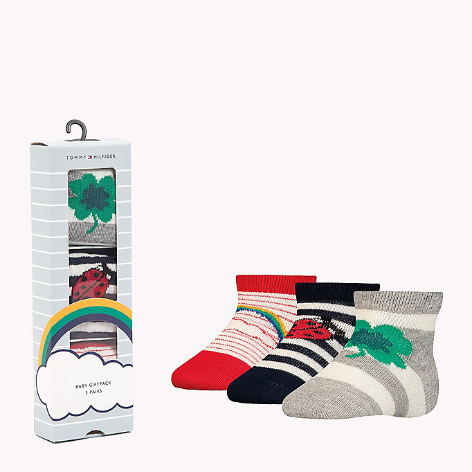TOMMY HILFIGER 3-Pack Lucky Charms Sock Giftbox - BABY BLUE - TOMMY HILFIGER Kids - main image