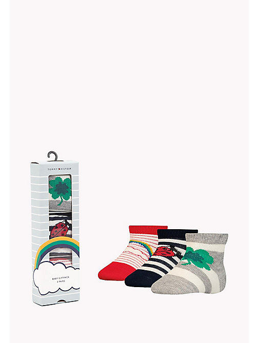 TOMMY HILFIGER 3-Pack Lucky Charms Sock Giftbox - MIDNIGHT BLUE - TOMMY HILFIGER kleidung - main image