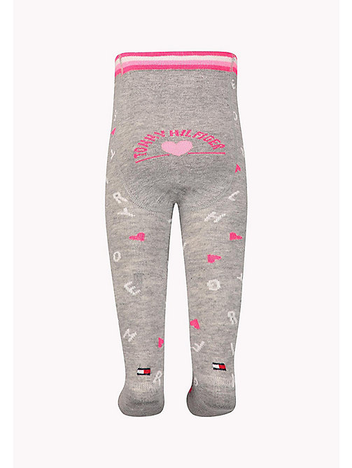 TOMMY HILFIGER 1-Pack Logo Sprinkle Heart Tights - PINK LADY - TOMMY HILFIGER Girls - detail image 1