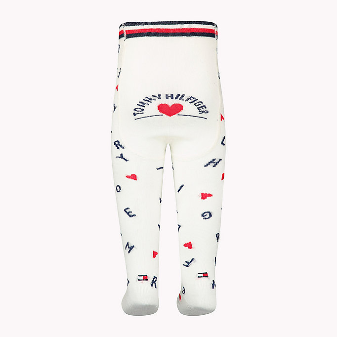 TOMMY HILFIGER 1-Pack Logo Sprinkle Heart Tights - PINK LADY - TOMMY HILFIGER Kids - detail image 1