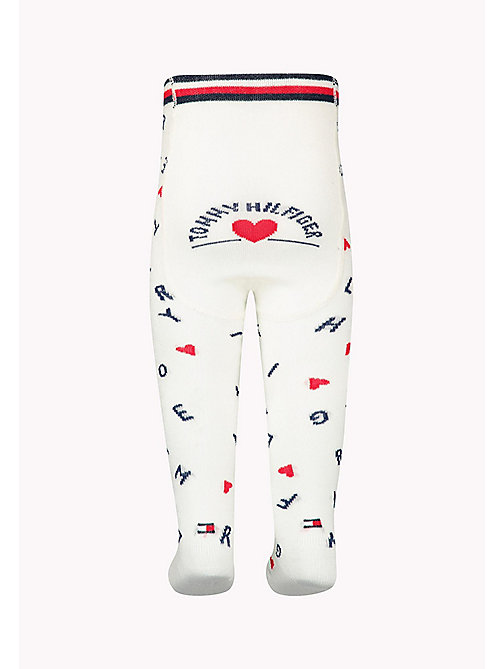 TOMMY HILFIGER 1-Pack Logo Sprinkle Heart Tights - MIDNIGHT BLUE - TOMMY HILFIGER kleidung - main image 1