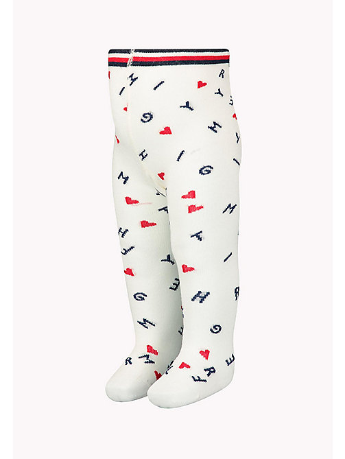 TOMMY HILFIGER 1-Pack Logo Sprinkle Heart Tights - MIDNIGHT BLUE - TOMMY HILFIGER kleidung - main image