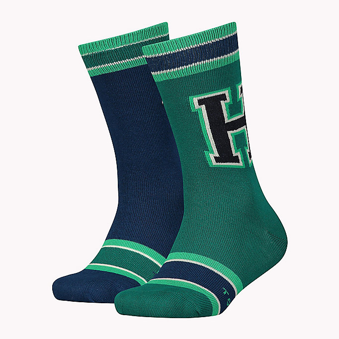 TOMMY HILFIGER TH BOYS PATCH SOCK 2P - JEANS - TOMMY HILFIGER Enfants - image principale