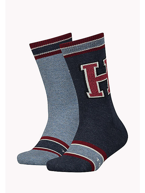TOMMY HILFIGER TH BOYS PATCH SOCK 2P - JEANS - TOMMY HILFIGER Schuhe & Accessoires - main image