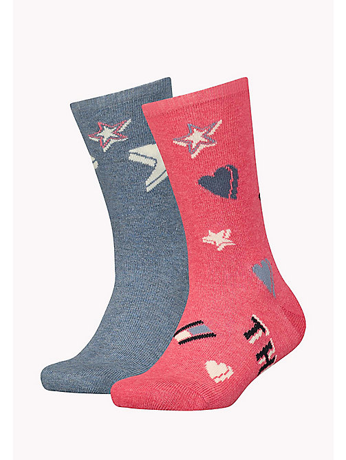 TOMMY HILFIGER TH GIRLS GRAPHIC SOCK 2P - ROSE MELANGE - TOMMY HILFIGER Girls - main image