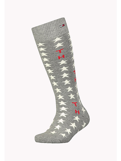 TOMMY HILFIGER TH KIDS UNISEX STARS KNEEHIGH 1P - MIDDLE GREY MELANGE - TOMMY HILFIGER Accessoires - main image