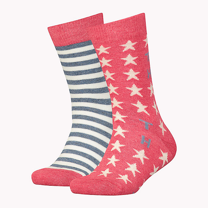 TOMMY HILFIGER TH UNISEX STARS AND STRIPES SOCK 2P - BLACK - TOMMY HILFIGER Kinder - main image