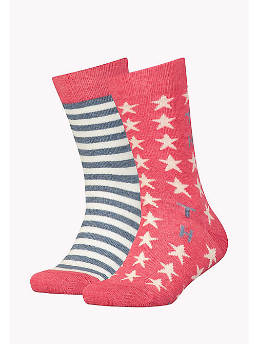 TOMMY HILFIGER TH UNISEX STARS AND STRIPES SOCK 2P - ROSE MELANGE - TOMMY HILFIGER Accessoires - main image