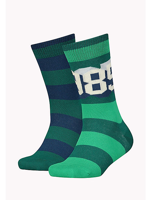 TOMMY HILFIGER TH BOYS TH 1985 SOCK 2P - OCEAN DEPTHS - TOMMY HILFIGER Schuhe & Accessoires - main image