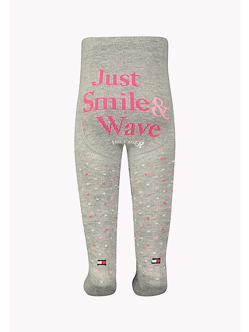 TOMMY HILFIGER TH BABY SMILE TIGHT 1P - PINK LADY - TOMMY HILFIGER Clothing - detail image 1